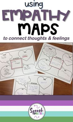 Working with older students in speech therapy and counseling can be challenging!  Here is an easy, fun therapy ideas for middle school and teen students to target emotions, feelings and empathy skills.  There are even links to free worksheets to help students identify and express their emotions!  #emotions #socialskills <br>