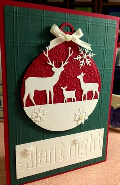 Item #7716 · Heart Prints A7 Spellbinders: 2013 Heirloom Ornaments Memory Box: Deer Trio Sizzix: 658779 Snowflake pattern and Plaid set, 660049 Christmas Set #3 (be aware that these are debossed)