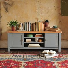 "Florence Grey Widescreen TV Unit - Up to 60"" (Q377) with Free Delivery 