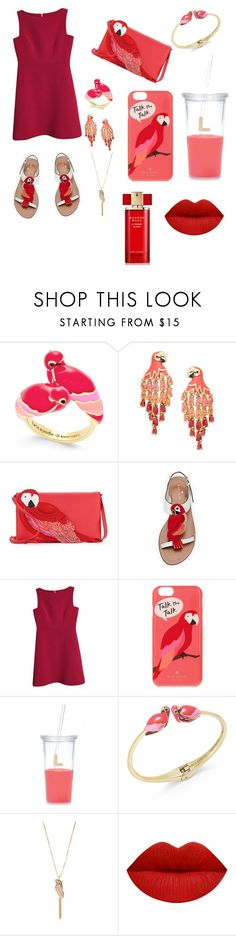 """Kate Spade ""Pink Parrot"" inspired"" by rylee-elizabeth ❤ liked on Polyvore featuring Kate Spade and Estée Lauder"
