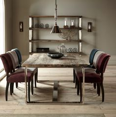 Condo collection from Halo Living is made from reclaimed sassafras wood from Chinese junks. Table from £1485. www.haloliving.co.uk