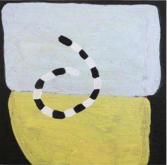 Becky Yazdan,  Velvet Rocks, 2013, oil on claybord, 12 x 12 inches.