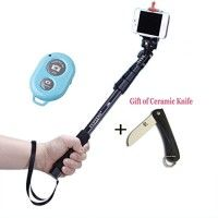 RC Extendable Selfie Handheld Stick Monopod Mount with Adjustable Phone Holder and Bluetooth Wireless Remote Shutter for IOS iPhone 6/6 Plus 5s 5c 5 4s 4 iPod Android Smart Phones (Blue Shutter) http://themarketplacespot.com/wp-content/uploads/2015/10/41gzc-UDLmL-200x200.jpg   Description for Monopod:  Light-weight and compact design; Aluminum alloy Construction; Mounting screw for camera or mini DSLR camera direct attachment; Anti-slide High-density foam grip with wrist stra