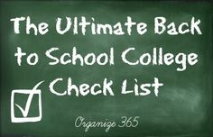 The Ultimate Back to School College Check List from Organize 365