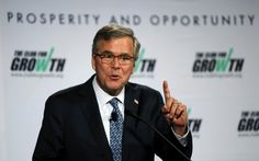 Former Florida Gov. Jeb Bush speaks at the winter meeting of the free market Club for Growth winter economic conference at the Breakers Hotel, Thursday, Feb. 26, 2015, in Palm Beach, Fla.