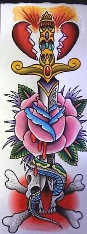 Richard Stell Dagger Skull Tattoo Flash | KYSA #ink #design #tattoo Leg Tattoos, Body Art Tattoos, Tattoos For Guys, Tatoos, Tatoo Designs, Tattoo Time, Dagger Tattoo, American Tattoos, Tattoo Traditional