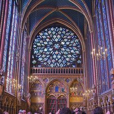 Sainte Chappelle in Paris - loved the stained glass
