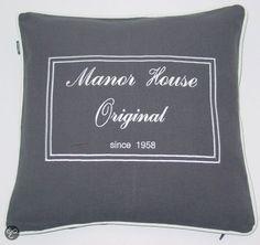 In The Mood Manor House Sierkussen - Antraciet - 50x50 cm