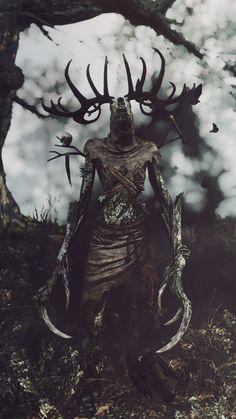 Such a wonderful day to play The Witcher – The Witcher Series The Witcher Wild Hunt, The Witcher Game, Witcher Art, Dark Creatures, Mythical Creatures Art, Fantasy Creatures, Arte Horror, Horror Art, Le Wendigo
