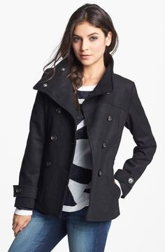 Thread & Supply Double Breasted Peacoat   X-Large from Nordstrom on shop.CatalogSpree.com, your personal digital mall.