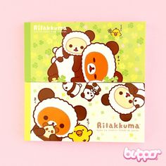 Buy Rilakkuma X Panda Mini Notepad Set - 2 pcs | Free Shipping | Blippo Kawaii Shop