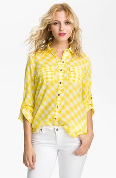 Gibson Gingham Check Pocket Shirt available at #Nordstrom