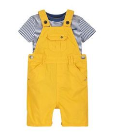 Denim Bibshorts and Boat T-Shirt - co-ordinated sets - Mothercare