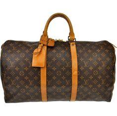 Louis Vuitton Keepall 50 Brown Travel Bag