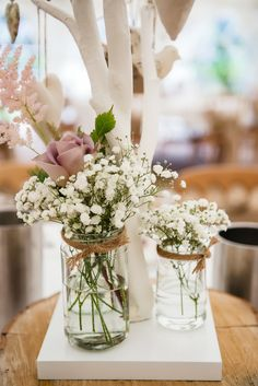 Floral table decorations - wedding centrepieces
