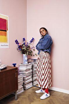 """Färgsprakande hemma hos Hanna MW: """"Man kan se att det är jag som bor här"""""""