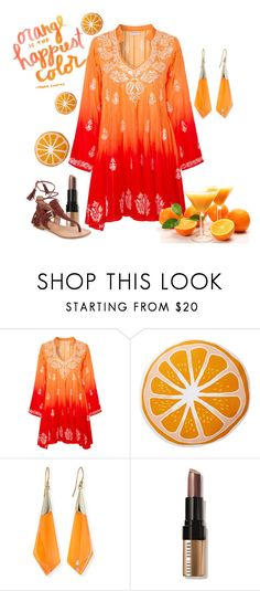 """""""Summer Fruits contest"""" by empathetic ❤ liked on Polyvore featuring Juliet Dunn, Nordstrom Rack, Alexis Bittar, Pantone, Bobbi Brown Cosmetics and Sigerson Morrison"""