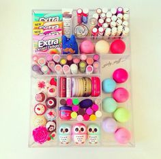 Dude, she has like all the baby lips, eos, and the little owls from forever 21!
