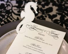 Cute invitation/menu idea