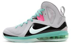 """Nike LeBron 9 P.S. Elite """"South Beach""""    super digging these !!! so sickk love the colorway"""