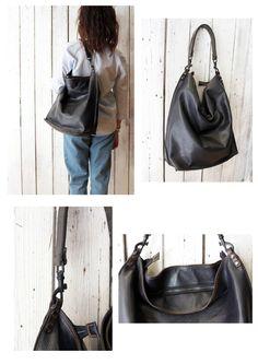 ALLEGRA BAG blue , Handmade vintage Italian Leather Tote Bag di…