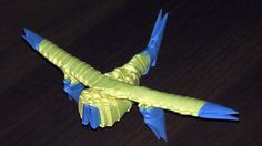 3D origami airplane (aircraft, plane) tutorial (instruction)