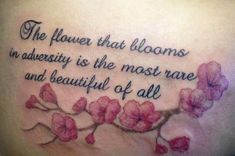 Wonderful Words With Flower Designs Used In Inking