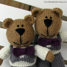 Ring Bearer Gift  Hand Knitted  Wedding Party by cotuitbayknitter