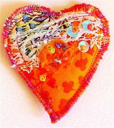 Orange Heart Brooch | Flickr - Photo Sharing!