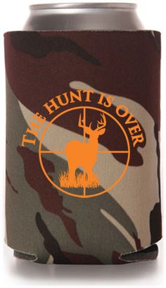HuntingOutdoors Wedding Can Coolers