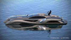 The Batmobile, Megayacht designed by Eduard Gray is sleek, futuristic and expensive at $25M