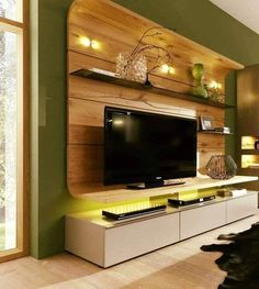 top 10 best Modern House TV Unit Interior Designs Tv Unit Interior Design, Tv Wall Design, Interior Design Living Room, Living Room Designs, House Design, Ikea Living Room, Eclectic Living Room, Living Spaces, Media Wall Unit