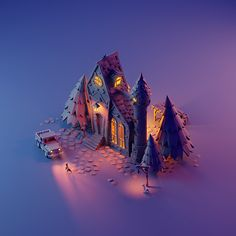 3D Low Poly Isometric Art Isometric Art, Isometric Design, Environment Concept Art, Environment Design, Blender 3d, 3d Design, Game Design, Modelos Low Poly, Low Poly Games