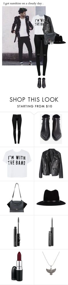 """I got sunshine on a cloudy day."" by missrouroud ❤ liked on Polyvore featuring J Brand, Grey City, rag & bone, MAC Cosmetics, Alex and Ani and Pieces"