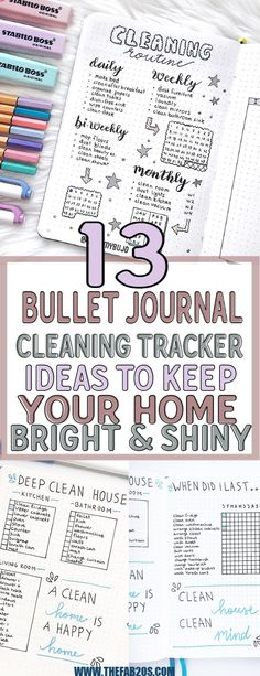 13 Bullet Journal Cleaning Tracker Ideas To Keep Your Home Bright and Shiny - Number One Finance Portal 2019 Digital Bullet Journal, Bullet Journal Tracker, Bullet Journal Layout, My Journal, Bullet Journal Inspiration, Bullet Journals, Bullet Journal Topics, Bullet Journal Cleaning Schedule, Monthly Cleaning Schedule