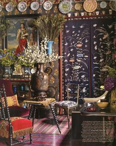 """Fashion designer Andrew GN's richly layered Paris Apartment. """"Time & Again"""""""