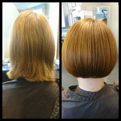 before and after cuting&color #Elumen #tukkatalo