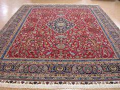 $47,999.00 retail  10x13 Persian Tabriz Pictorial Hand Knotted Wool Silk Red Navy Fine Oriental Rug | eBay