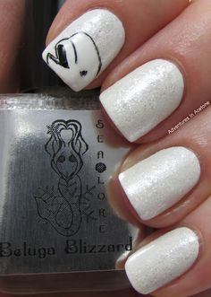 Indie Brand: Sea Lore Beluga Blizzard and beluga nail art!