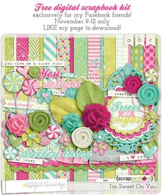 Quality DigiScrap Freebies: I'm Sweet On You full kit freebie from Designs By Megan Turnidge