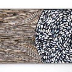 Driftwood And Mussel Shell Art Assemblage by Michael Fleming Seashell Art, Seashell Crafts, Driftwood Wall Art, Driftwood Projects, Sea Life Art, Sea Crafts, Mosaic Wall Art, Textiles, Beach Art