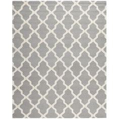 @Overstock.com - Safavieh Handmade Moroccan Cambridge Silver Wool Rug - Upgrade your living room or bedroom with this handmade Moroccan rug. This bold rug features a traditional geometric pattern and 0.5 inches of pile height. Equipped with durable cotton canvas backing, this piece will last for years to come.  http://www.overstock.com/Home-Garden/Safavieh-Handmade-Moroccan-Cambridge-Silver-Wool-Rug/7530607/product.html?CID=214117 $43.85