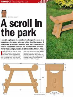 #920 Carved Garden Seat Plans - Outdoor Furniture Plans and Projects