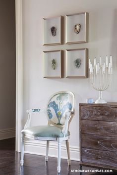 House of Turquoise: Melissa Haynes // the rocks in frames and the chair