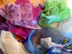 1. First I gather my materials, by color. Starting with the kit from  Suzanne Morgan(Refer back to the piece I made last week , and fol...