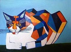 This Cubist Painting Uses Geometric Shapes. - Philip Absolon (http://commons.wikimedia.org/wiki/File:Philip_Absolon._Cassie_Thinking_About_Cubism.jpg):