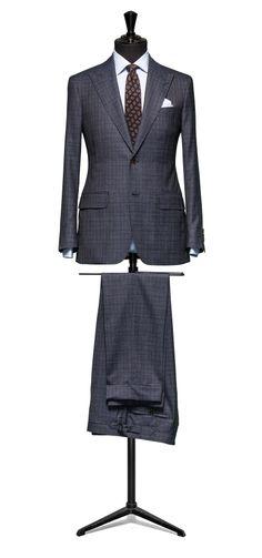 Blue suit Plain S110 http://www.tailormadelondon.com/shop/tailored-suit-fabric-4331-check-blue/