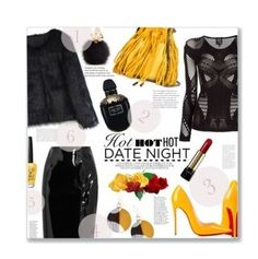 """"""""""" by harjas ❤ liked on Polyvore featuring Topshop Unique, Chicwish, STELLA McCARTNEY, Christian Louboutin, Jaeger, OPI, Lancôme, Alexander McQueen, Furla and DateNight"""