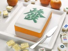 CAMEMBERU: Goodwood Park Hotel's Mahjong Tile Poundcake!
