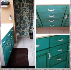 Vintage Furniture Paint ™ is the fast drying ALL-IN-ONE paint designed for furniture in need of a makeover. So durable you can use on outdoor projects too. Furniture, Old Cabinets, Bath Makeover, Painted Furniture, Paint Designs, Blue Island, Painted Island, Vintage Furniture, Vintage